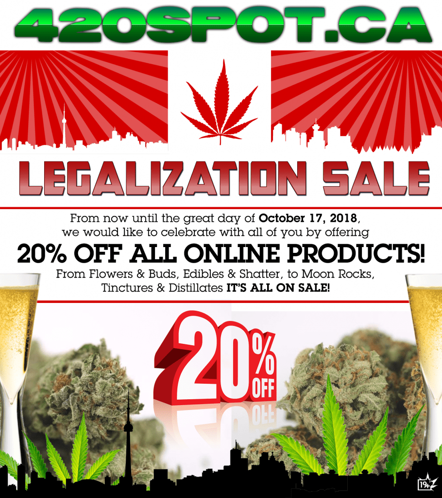 420SPOT LEGALIZATION SALE Cannabis