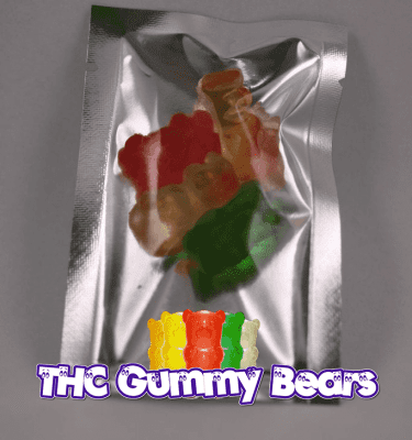 Assorted Gummy Bears (100mg THC per bag)