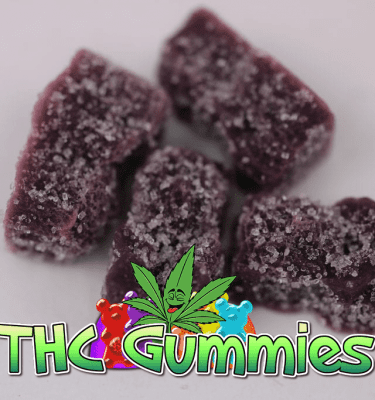 Grape Gummy Bears Sugar Coated (100mg per bag)