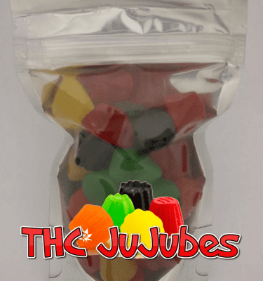 Assorted Jube Jubes (1000mg THC per bag)