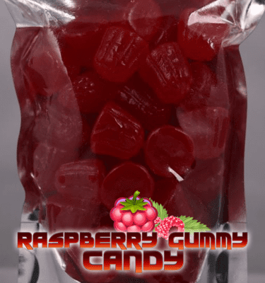 Raspberry Gummy Candies (1000mg per bag)