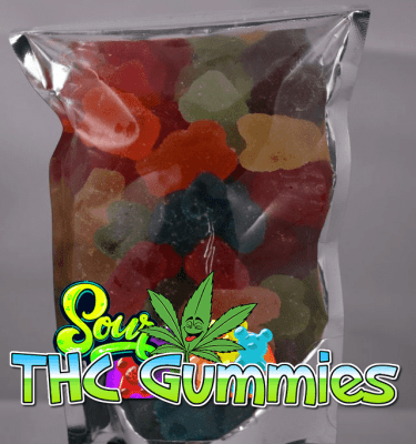 Assorted Sour Gummy Candy (1000mg per bag)