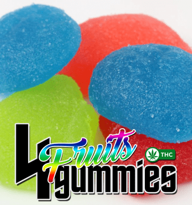 4 Fruit Gummies (100mg per bag)