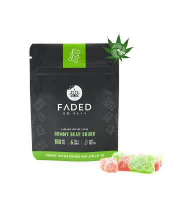 Gummy Bear Sours (180mg THC)