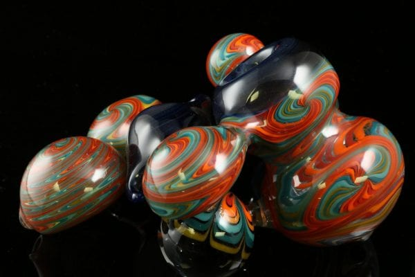 Dave Eckhart Dual Marble Multi Chambered Pipe 6″