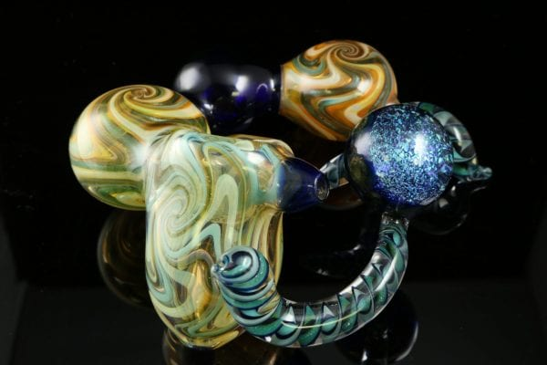 Dave Eckhart Multi-Chamber Pipe with Galaxy Marble 6.5″