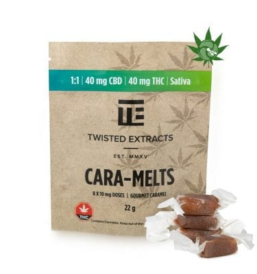 Cara-Melts (40mg THC + 40mg CBD) 1:1 Sativa/CBD