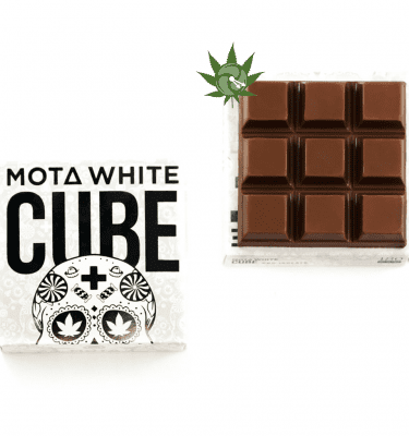 Mota White Milk Chocolate Cube (180mg CBD)