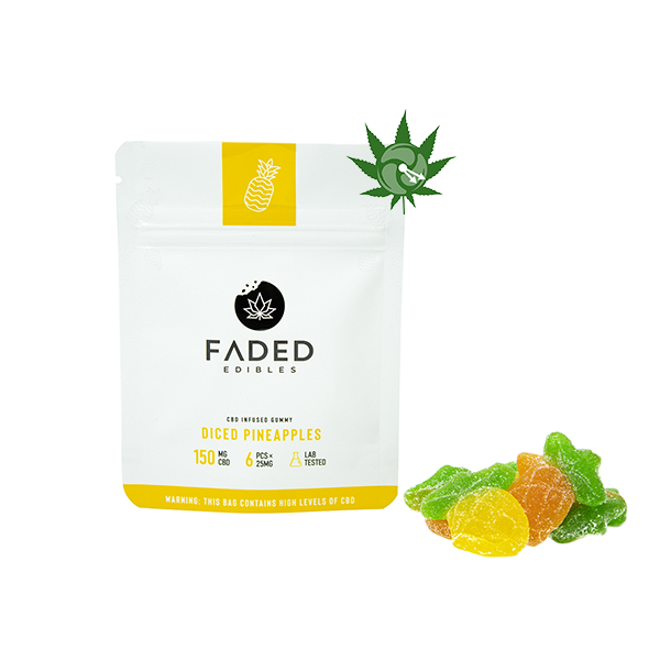 Diced Pineapples (150mg CBD)