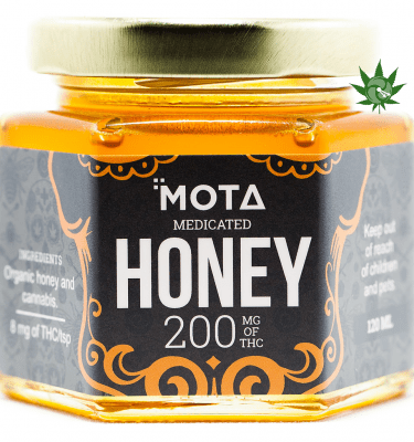 Mota Medicated Honey (200mg THC) per Jar