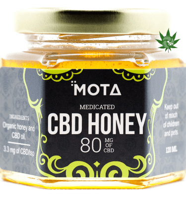 Mota Medicated Honey (80mg CBD) per Jar