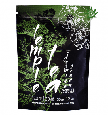 Temple Tea Jasmine Green (120mg THC + 20mg CBD)