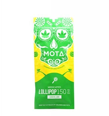 Mota Lollipops 150mg THC (Lemon Lime)