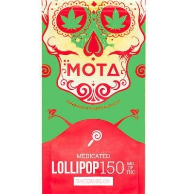 Mota Lollipops 150mg THC (Watermelon)