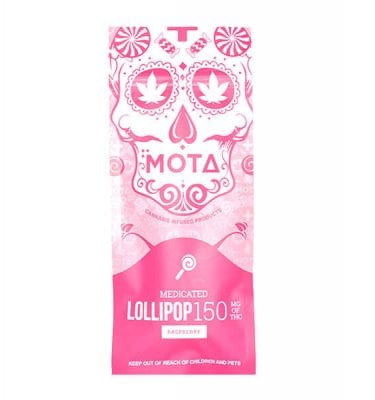 Mota Lollipops 150mg THC (Raspberry)
