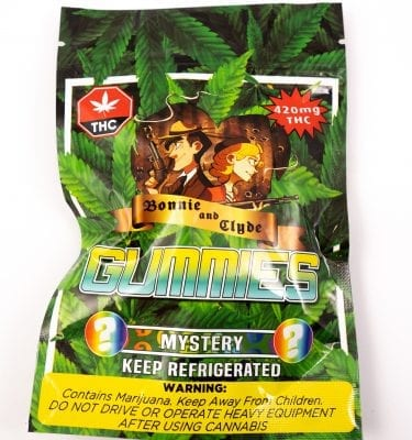 Bonnie and Clyde Mystery Gummies  (420mg THC)