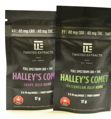 Twisted Extract – Halley's Comet (40mg THC + 40mg CBD) FULL SPECTRUM