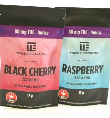 Twisted Extracts  Zzz Bomb (80mg THC) Indica