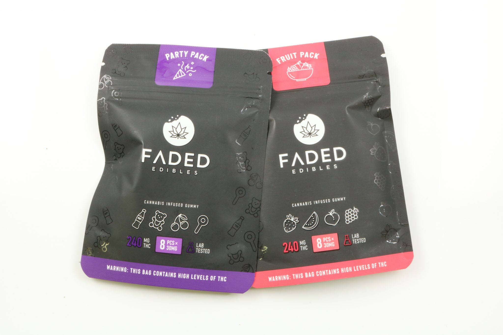 Faded Edibles – Gummy Packs (240mg THC)