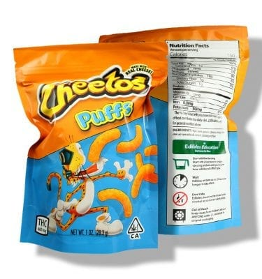 Cheetos Puffs (600mg THC per bag)