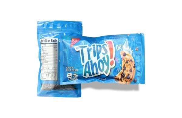 Trips Ahoy medicated cookies (2) 300mg THC per Cookie, 600 mg The per package