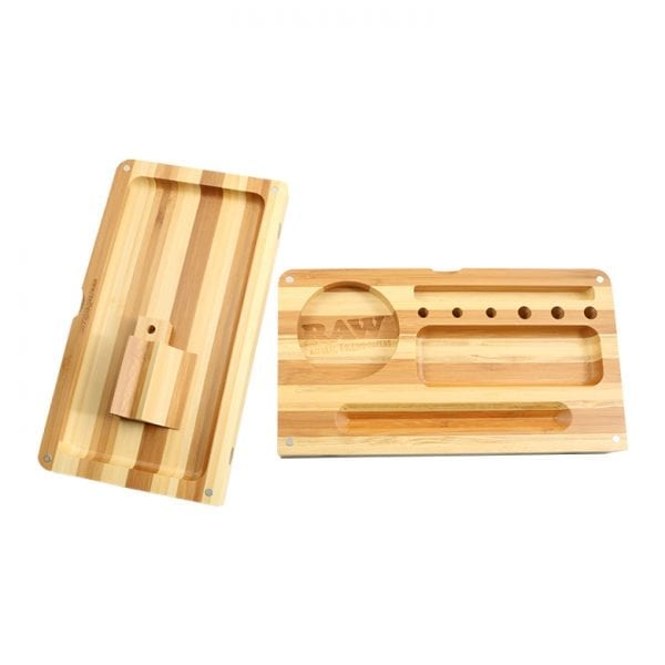 RAW BAMBOO BACKFLIP ROLLING TRAY STRIPED *LIMITED EDITION*
